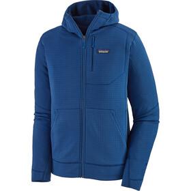 Patagonia R1 Bluza z zamkiem błyskawicznym Mężczyźni, niebieski